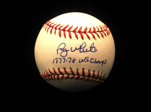 Roy White Signed OML Baseball