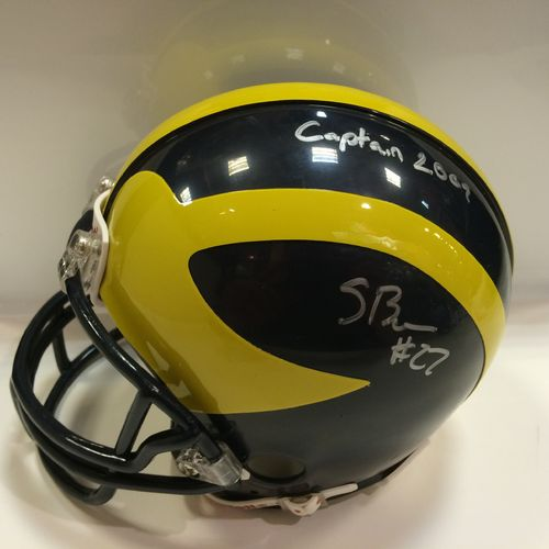 Stevie Brown Autographed University of Michigan Mini Helmet