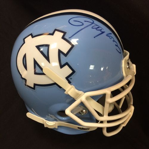 University of North Carolina Lawrence Taylor Autographed Mini Helmet