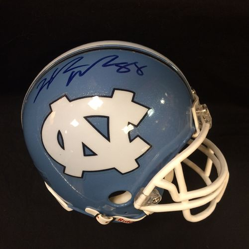 University of North Carolina Hakeem Nicks Autographed Mini Helmet