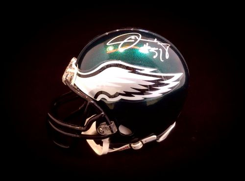 Philadelphia Eagles Joe Mays Autographed Mini Helmet