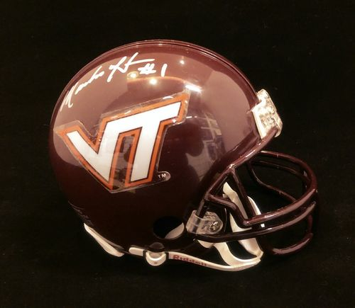 Virginia Tech Macho Harris Autographed Mini Helmet