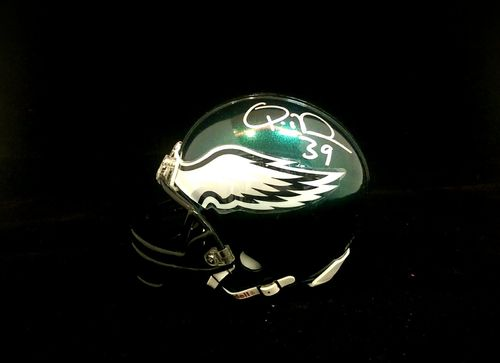Philadelphia Eagles Quintin Demps Autographed Mini Helmet