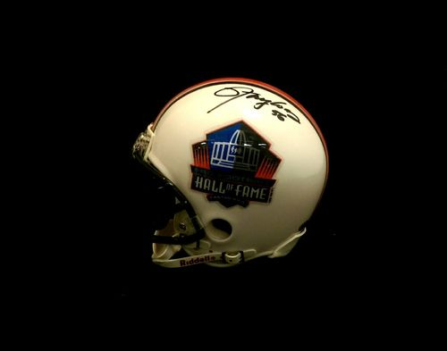 Lawrence Taylor and Harry Carson Autographed Pro Football Hall of Fame Mini Helmet