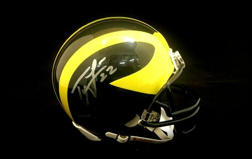 University of Michigan Ty Law Autographed Mini Helmet