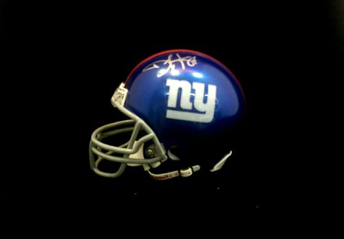 New York Giants Domenik Hixon Autographed Mini Helmet