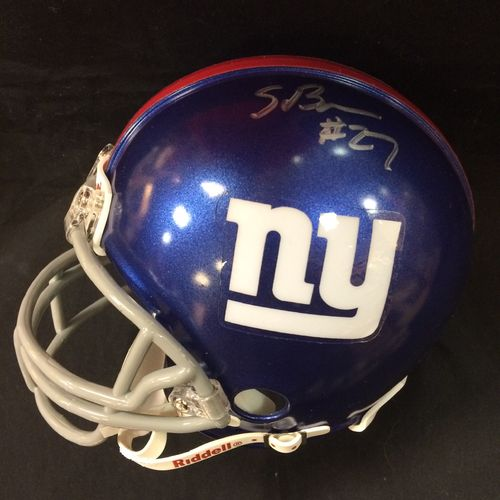 Stevie Brown Autographed New York Giants Mini Helmet