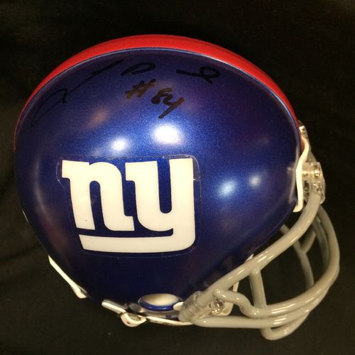 Larry Donnell Autographed New York Giants Mini Helmet