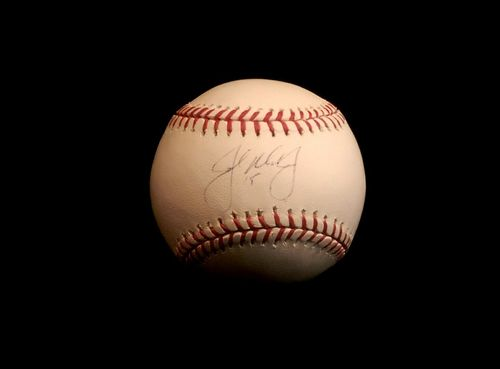 John Mayberry Jr. Autograph OML Baseball