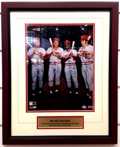 """Big Red Machine"" Autograph Framed"