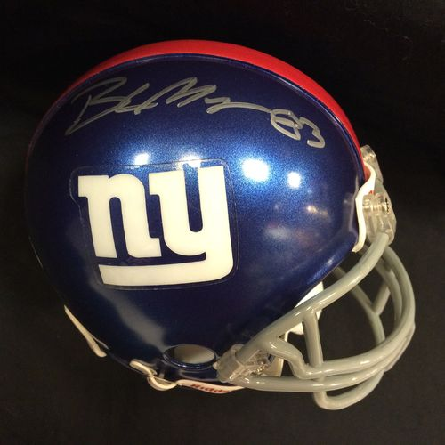 Brandon Myers Autographed New York Giants Mini Helmet