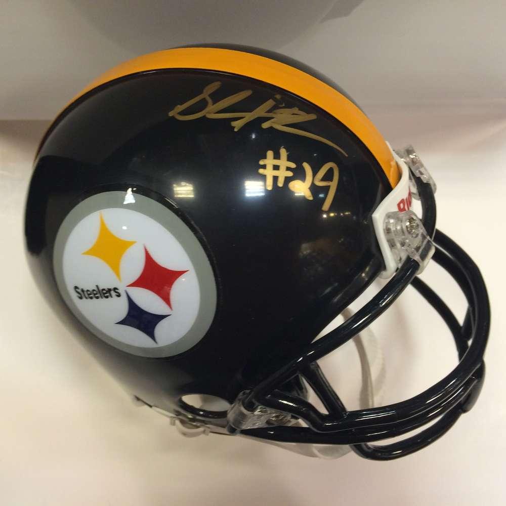 save off 9505d f88a6 Shamarko Thomas Autographed Pittsburgh Steelers Mini Helmet