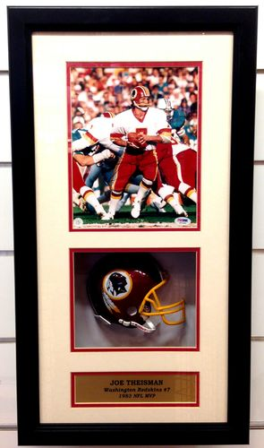 Washington Redskins Joe Theismann Autograph Shadowbox