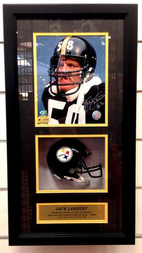 Pittsburgh Steelers Jack Lambert Autograph Shadowbox