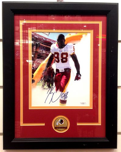 Washington Redskins Brian Orakpo Autograph 8x10 Framed