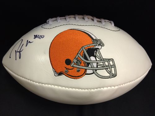 Peyton Hillis Autographed Cleveland Browns Football