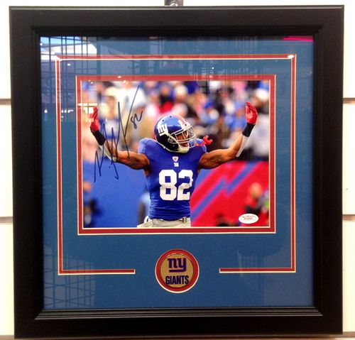 New York Giants Mario Manningham Autograph 8x10 Framed