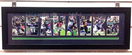 Seahawks Framed Collage