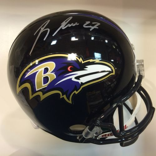 Ray Rice Autographed Baltimore Ravens Full Size Helmet