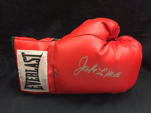 "Jake LaMotta ""The Raging Bull"" Autographed Boxing Glove"