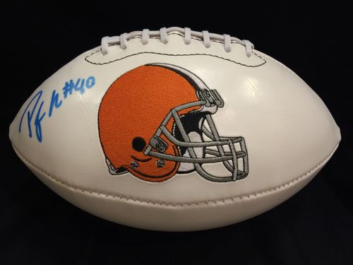 Peyton Hills Autographed Cleveland Browns Football