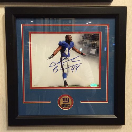 New York Giants Ahmad Bradshaw Autograph 8x10 Framed
