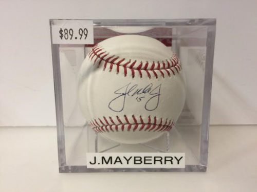 John Mayberry Jr Autograph OML Baseball
