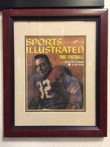 Jim Brown Sports Illustrated Cover Autographed/Framed Picture