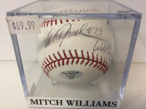 Mitch Williams Autograph OML Baseball