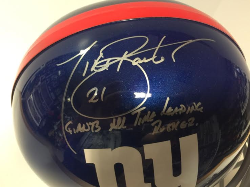 New York Giants Tiki Barber Autograph Full Size Helmet