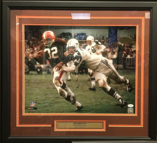 Jim Brown Autographed/Framed Picture