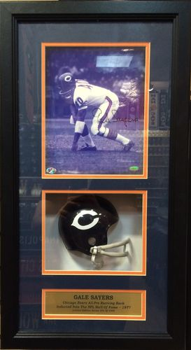 Gale Sayers Autographed Shadow Box