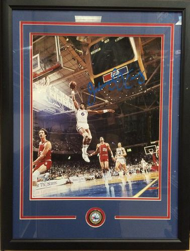 Julius Erving Autographed/Framed Picture