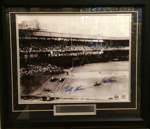 "Bobby Thompson & Ralph Branca ""The Shot Heard Round The World"" Autographed by Both/Framed Picture"