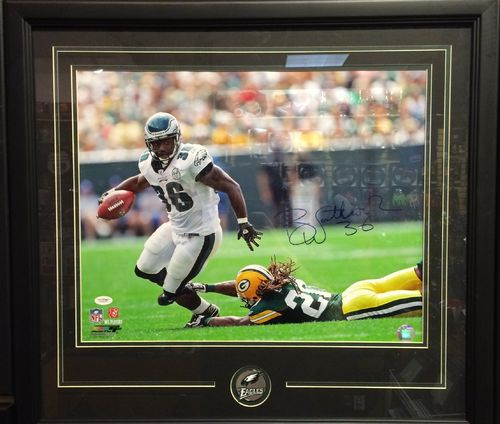 Brian Westbrook Autographed/Framed Picture