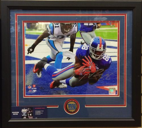 Hakeem Nicks Autographed/Framed Picture