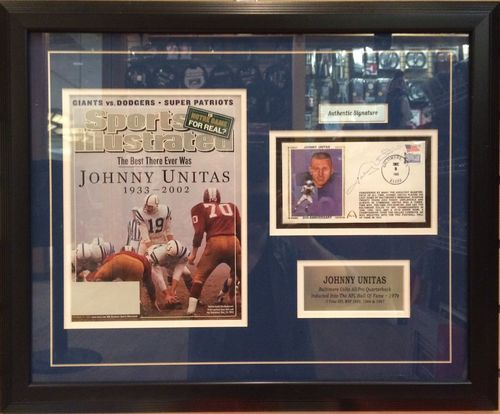 Johnny Unitas Autographed/Framed Sports Illustrated Cover