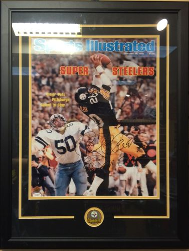 Rocky Bleier Autographed/Framed Sports Illustrated Cover Photo