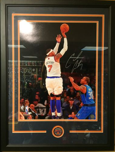 Carmello Anthony Autographed/Framed Picture