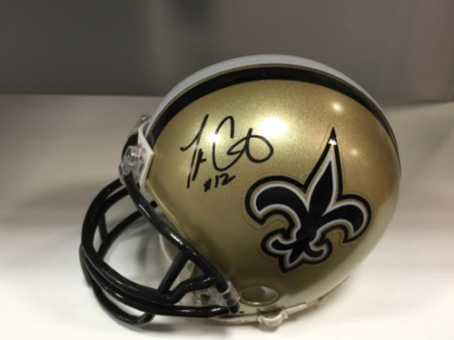 Marques Colston SAINTS AUTOGRAPH  MINI HELMET WITH COA