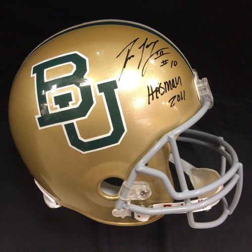 Robert Griffin Autographed Baylor University Bears Full Size Helmet