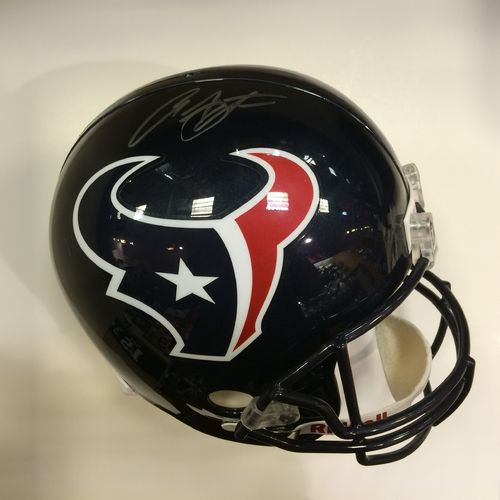 Arian Foster Autographed Houston Texans Full Size Helmet