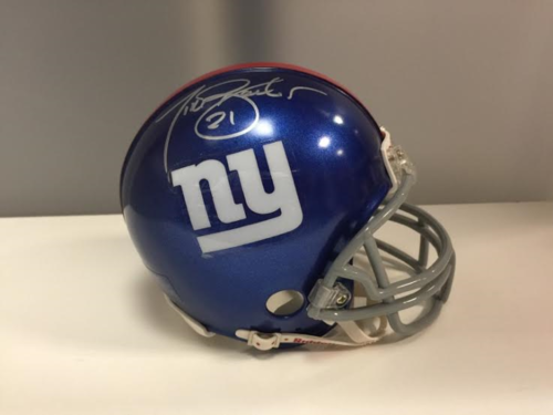 TIKI BARBER AUTOGRAPH MINI HELMET WITH COA