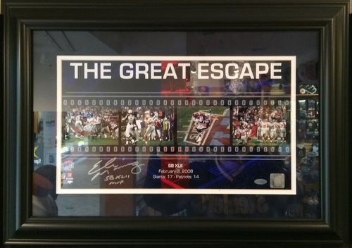 Eli Manning The Great Escape Autographed/Framed Picture