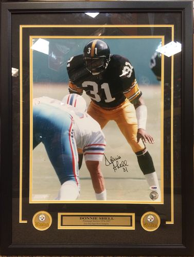 Donnie Shell Autographed Framed Picture229.