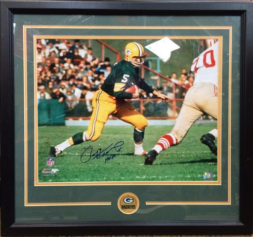 Paul Hornung Autographed Framed Picture