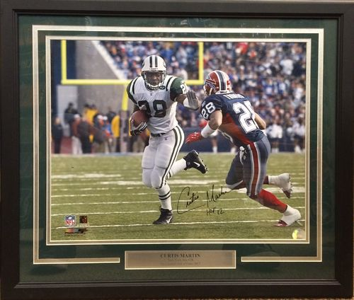Curtis Martin Autographed Framed Picture