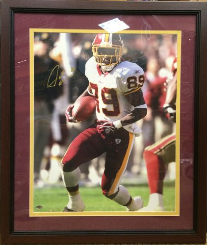 Santana Moss Autographed Framed Picture