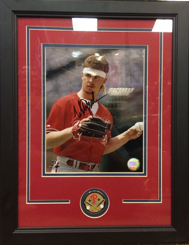"Mitch Williams, ""Wild Thing"", Autographed Framed Picture"