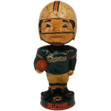 Miami Dolphins Retro Bobble Head Figurine